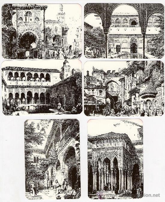 -41286 6 CALENDARIOS PINTURAS GRANADA, AÑO 1994, PUBLICIDAD L. FLEMING (Coleccionismo - Calendarios)