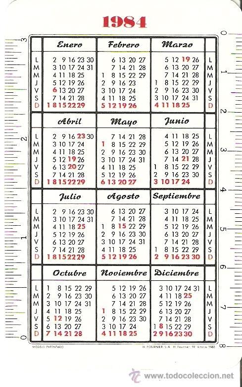 Coleccionismo Calendarios: CALENDARIO 1984 - Foto 2 - 14451448