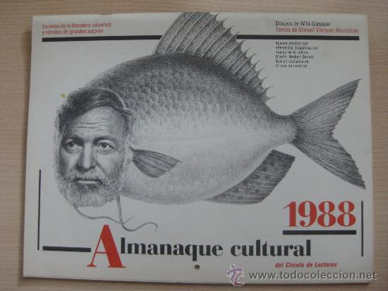 ALMANAQUE CULTURAL 1988 DEL CIRCULO DE LECTORES (Coleccionismo - Calendarios)