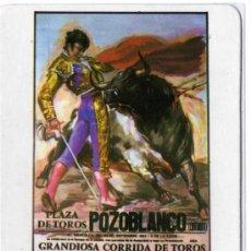 Coleccionismo Calendarios: CALENDARIO - REPRODUCCION DEL CARTEL DE TOROS DE LA COGIDA DE PAQUIRRI EN POZOBLANCO - AÑO 1987. Lote 23911802