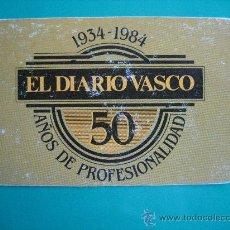 Coleccionismo Calendarios: CALENDARIO FOURNIER , EL DIARIO VASCO, DE 1984. Lote 24384044