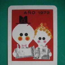 Coleccionismo Calendarios: CALENDARIO FOURNIER, CAJA DE AHORROS VIZCAINA, DE 1972. Lote 53887622
