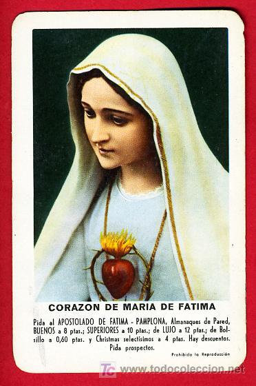 CALENDARIO FOURNIER , PUBLICIDAD NTRA SRA DE FATIMA , 1961 , CAL3117 (Coleccionismo - Calendarios)