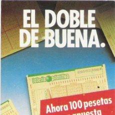 Coleccionismo Calendarios: CALENDARIO LOTERIA PRIMITIVA 1988. Lote 17080553