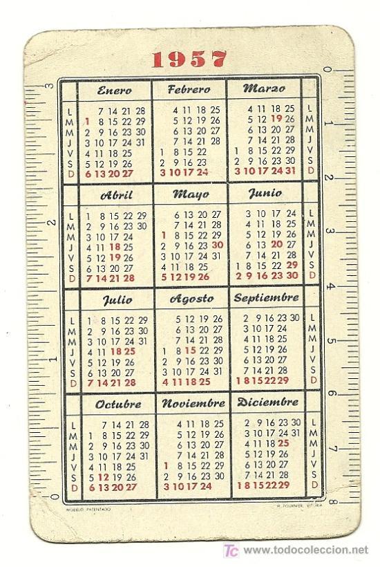 Calendario Del Ano 1957.Fournier 1957 Calendario De Santo Domingo Savio Ano 1957 Hf3