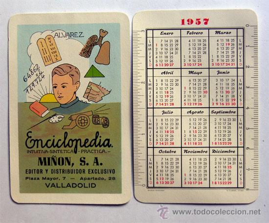 Calendario Del Ano 1957.Calendario Ano 1957 Enciclopedia Minon S A Vendido En