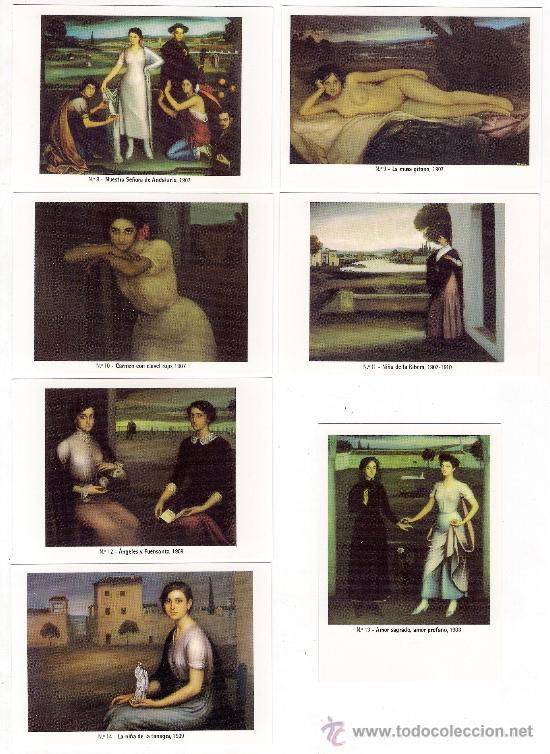 Coleccionismo Calendarios: -58627 50 CALENDARIOS PINTURAS JULIO ROMERO DE TORRES, AÑO 2011, ACABADAS EN BRILLO - Foto 2 - 46001541