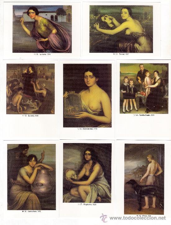 Coleccionismo Calendarios: -58627 50 CALENDARIOS PINTURAS JULIO ROMERO DE TORRES, AÑO 2011, ACABADAS EN BRILLO - Foto 5 - 46001541