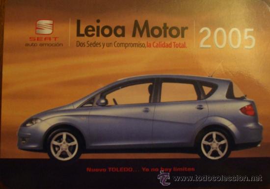 Calendario Max 2005.Seat Toledo Ya No Hay Limites Calendario 2005 Publicidad Leioa Motor
