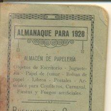 Coleccionismo Calendarios: ALMANAQUE AÑO 1928. Lote 27618014