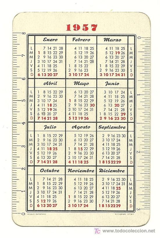 Calendario Del Ano 1957.Fournier 1957 Calendario De Ntra Sra De Fati Vendido En