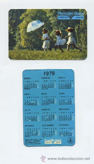 Umv Calendario.Calendario De Bolsillo 1979 Pivacilin Base Cal 137