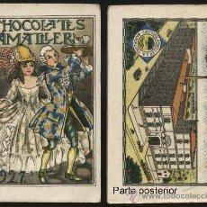 Coleccionismo Calendarios: CALENDARIO CHOCOLATES AMATLLER TIPO LIBRITO DEL AÑO 1927. Lote 19308265