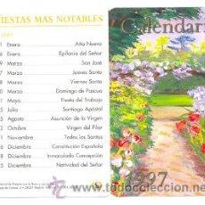 Collectionnisme Calendriers: CALENDARIO CUADRO CON FLORES 1997. Lote 276746258