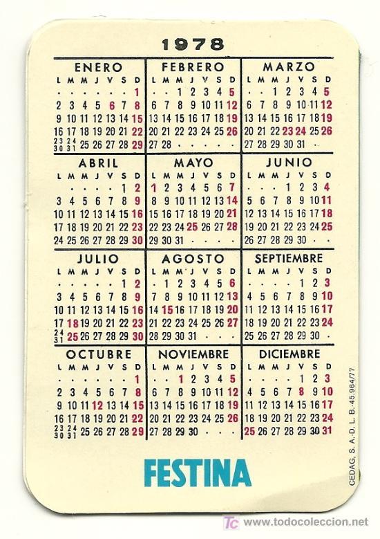 1978 Calendario.Calendario De Reloj Festina Ano 1978 Sold At Auction