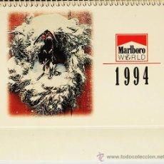 Coleccionismo Calendarios: CALENDARIO SOBREMESA.- MARLBORO WORLD.- 2 MESES PAGINA.- AÑO 1994. Lote 19359478
