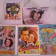 Coleccionismo Calendarios: LOTE 5 CALENDARIOS CON PELICULAS DE CINE. Lote 19399763