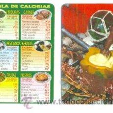 Coleccionismo Calendarios: 2 CALENDARIO .. ALIMENTOS TABLAS CALORÍAS .. 1985-2000 .. TIENEN MARCAS DE COLA DE HABER ESTADOS P. Lote 218247187