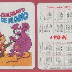 Coleccionismo Calendarios: CALENDARIO DE BOLSILLO COMAS NEGSA 1975 CUENTO EL SOLDADITO DE PLOMO NAIPE BARAJA. Lote 29737341