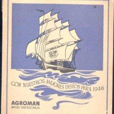 Coleccionismo Calendarios: 1946.- ALMANAQUE DE AGROMAN. Lote 19800966
