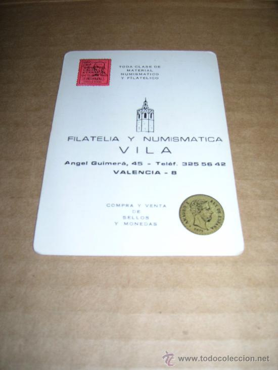 CALENDARIO DE BOLSILLO AÑO 1984. FILATELIA Y NUMISMATICA VILA. - . (Coleccionismo - Calendarios)
