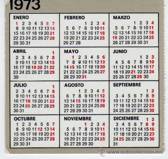 Mini Calendario.Curioso Mini Calendario Ano 1973 Publicitario De Agroman Empresa Constructora S A