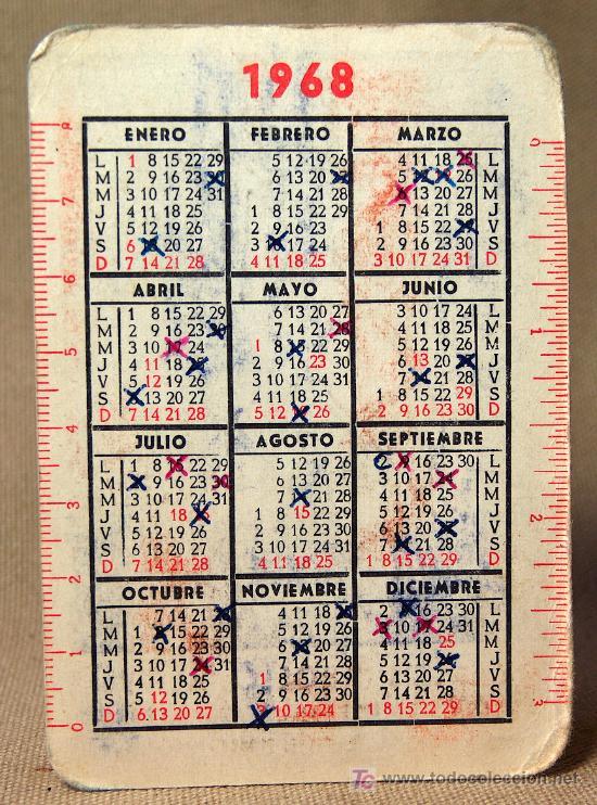 Calendario 1968.Calendario 1968 La Pajarita Carlos Grollo Aloy Valencia