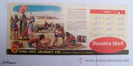 Calendrier 1951.Calendario Calendar Calendrier 1951 Shell Petroleo Herodoto Nabopolasar
