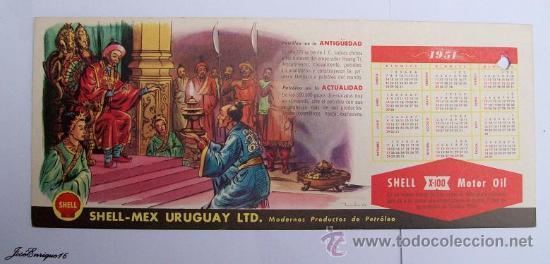Calendrier 1951.Calendario Calendar Calendrier 1951 Shell Petroleo Hoang Ti 221 Ac China