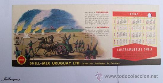Calendrier 1951.Calendario Calendar Calendrier 1951 Shell Petroleo Fuegos Eternos Mar Caspio