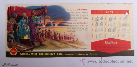 Calendrier 1951.Calendario Calendar Calendrier 1951 Shell Petroleo Plutarco Alejandro El Grande
