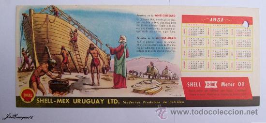 Calendrier 1951.Calendario Calendar Calendrier 1951 Shell Petroleo Arca De Noe