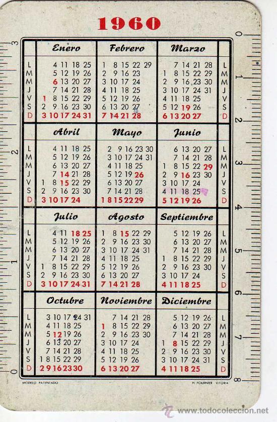 Calendario 1960.Calendario Estampa Fournier 1960 Vision Fatimista De Pio Xii Felicitacion Pascua Serie Religion