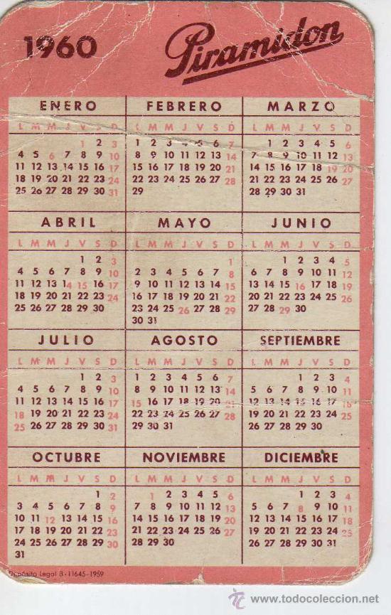 Calendario 1960.Calendario 1960 Piramidon Serie Farmaceutica Sold At