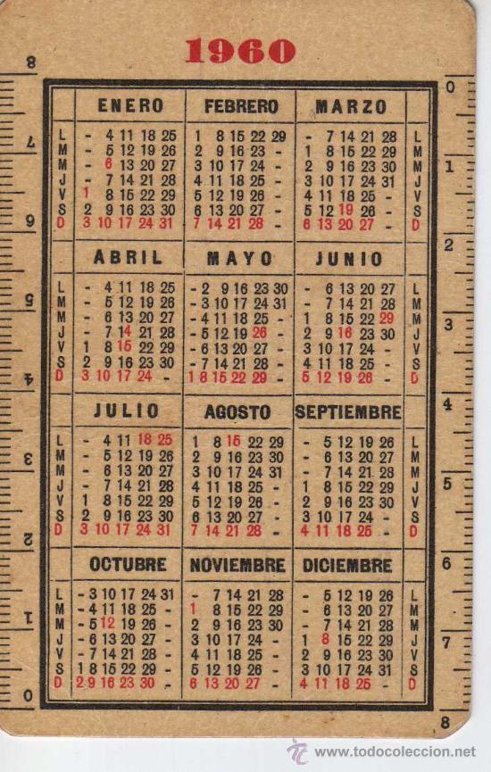 Calendario 1960.Calendario 1960 Indanthren Tejidos En Colores Solidos