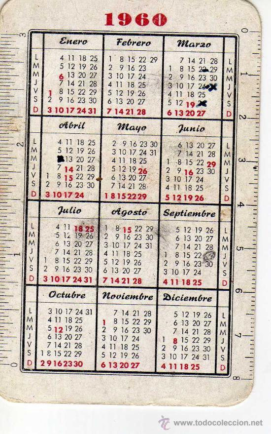 Calendario 1960.Calendario 1960 Olma Relojes Suizos De Cal Sold
