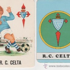 Coleccionismo Calendarios: LOTE 2 CALENDARIOS FÚTBOL 1974 - REAL CLUB CELTA DE VIGO. Lote 26489027