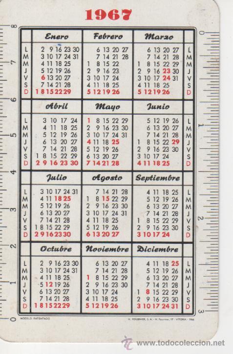 Coleccionismo Calendarios: CALENDARIO FOURNIER 1967 - *FAGORICE SU HOGAR CON FAGOR* - Foto 2 - 26869406
