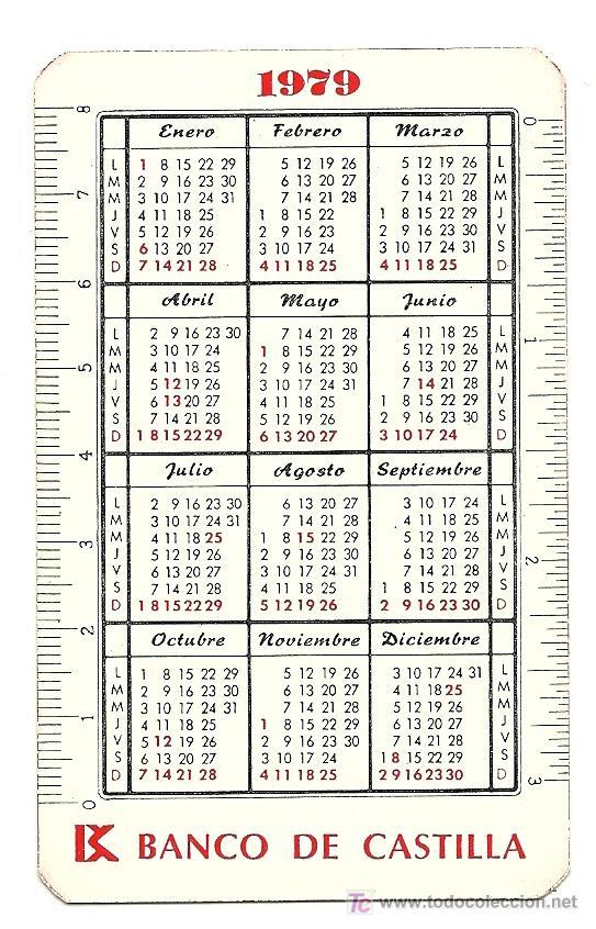 Calendario Del 1979.Calendario Del Banco De Castilla Ano 1979 Sold At