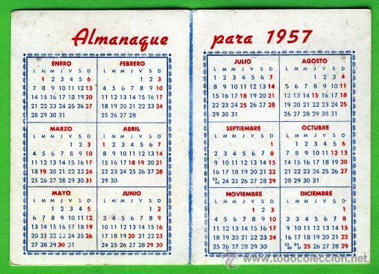 Calendario Del Ano 1957.Un Calendario Ano 1957 Con Publicidad Fabrica Sold Through