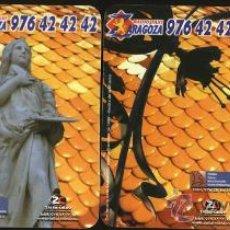Coleccionismo Calendarios: LOTE 4 CALENDARIOS PUBLICITARIOS - RADIO TAXI ZARAGOZA 2008 . Lote 20779114