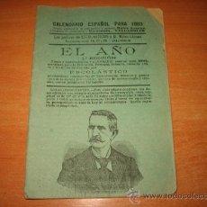 Coleccionismo Calendarios: EL AÑO CALENDARIO ESPAÑOL PARA 1903 1ª EDICION CONTRAPORTADA PUBLICIDAD CHOCOLATES LA TRINIDAD . Lote 21029996
