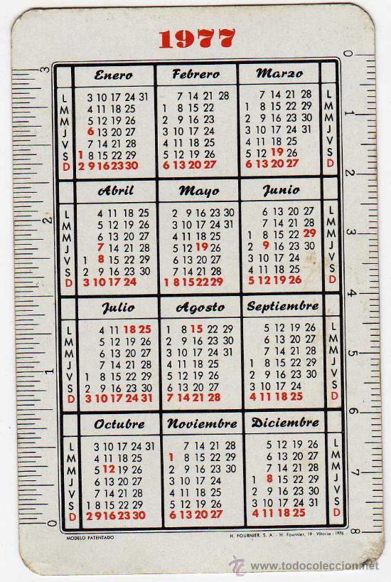 Calendario Del 1977.Bonito Calendario Heraclio Fournier Vitoria Baraja Espanola As De Oro Ano 1977