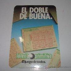 Coleccionismo Calendarios: CALENDARIO...LOTERIA PRIMITIVA....AÑO..1988. Lote 21541715