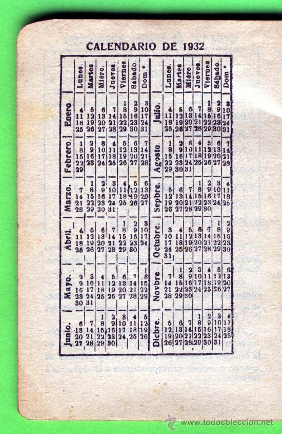 Calendario 1932 Espana.Un Calendario Ano 1932 Con Publicidad De Palacio Del Mueble Valencia