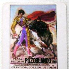Coleccionismo Calendarios: CALENDARIO CARTEL PLAZA TOROS POZOBLANCO AÑO 1986. Lote 21655291