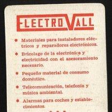 Coleccionismo Calendarios: CALENDARIO ELECTRO VALL 1987. Lote 21705782