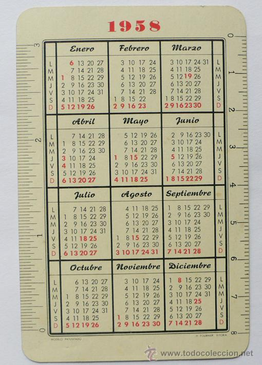 Calendario 1958.Calendario H Fournier 1958 Sold At Auction 21718340