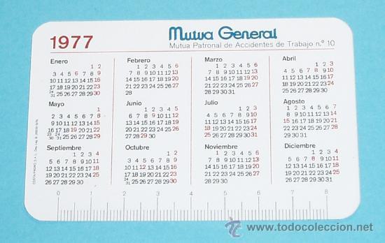 Calendario Del 1977.Calendario 1977 Mutua General