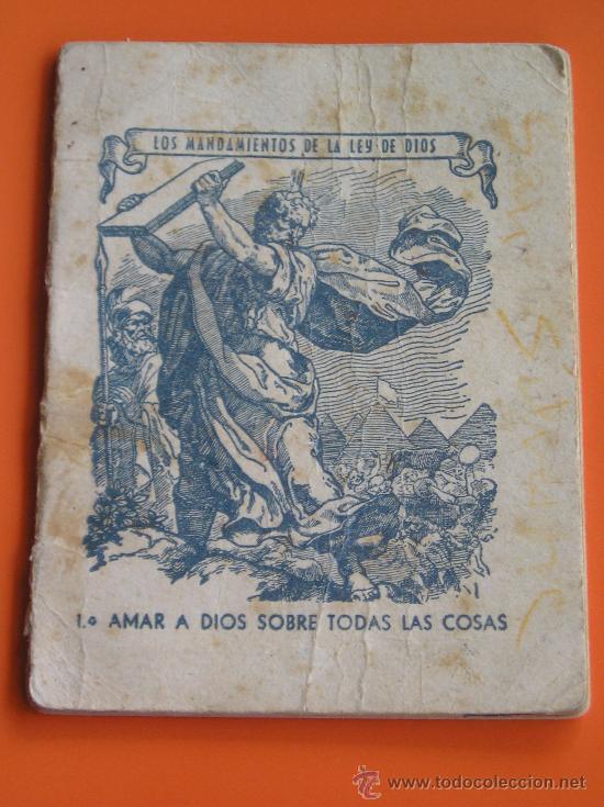 **ALMANAQUE PARA EL AÑO 1946**PORTADA, LOS MANDAMIENTOS DE LA LEY DE DIOS**(10 X 7,5 CM) (Coleccionismo - Calendarios)